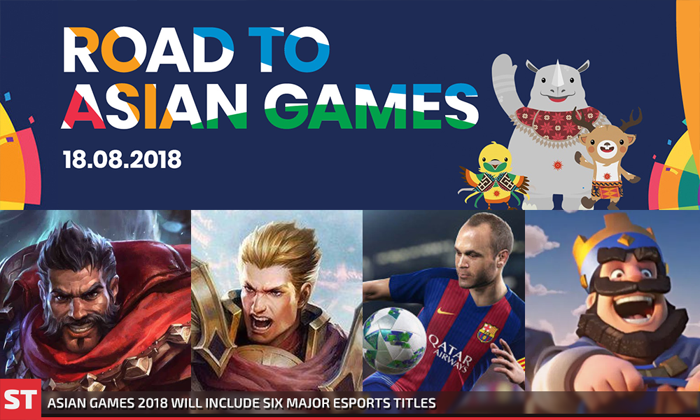 Asian Games 2018 Will Include Six Major Esports Titles