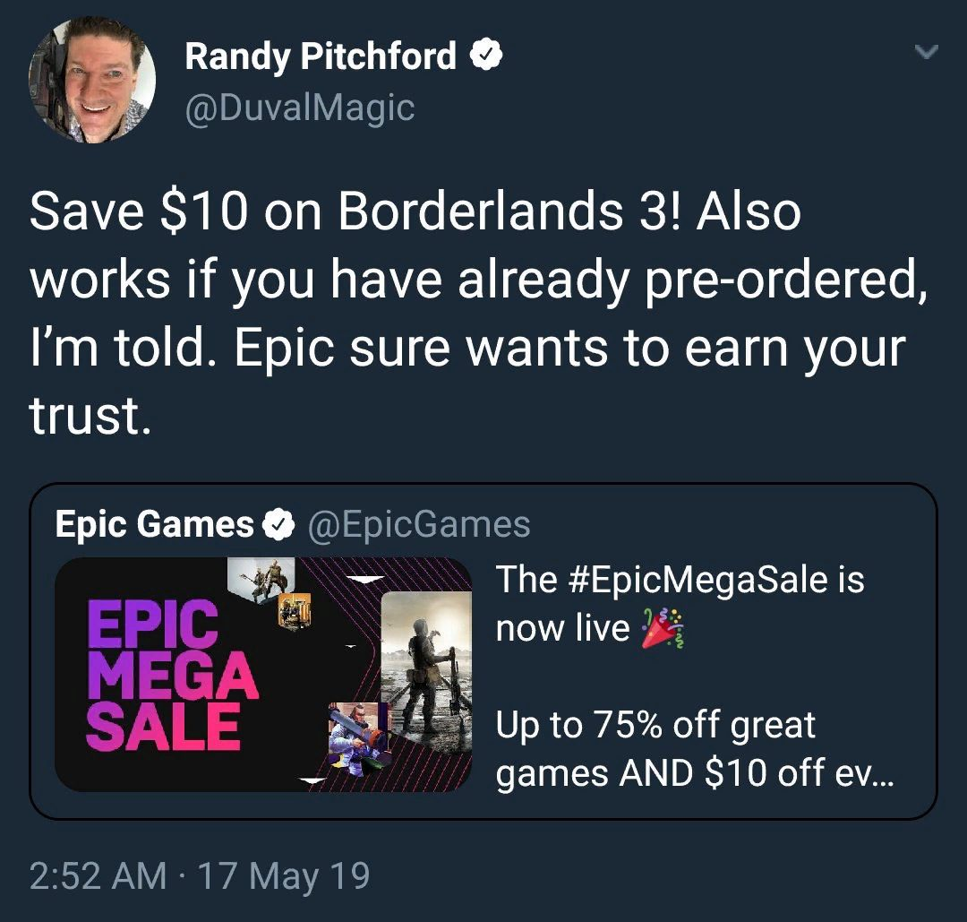 Borderlands 3 - Coming Soon - Epic Games Store