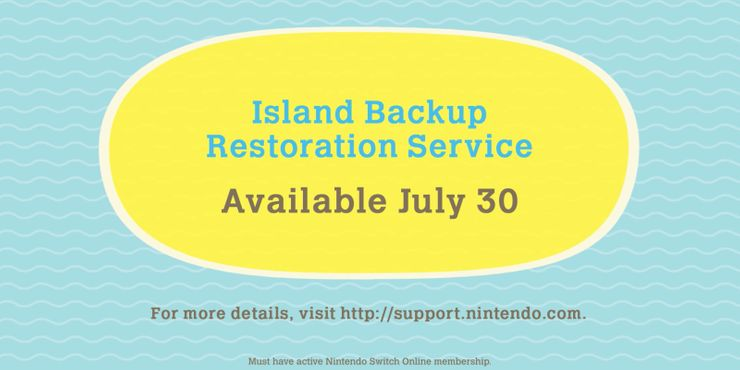 Animal Crossing Island Backup Restoration Service