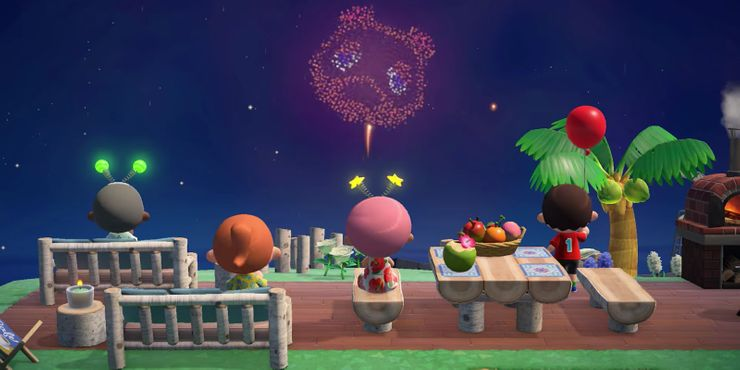 Animal Crossing Fireworks