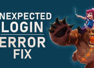 League of Legends An Unexpected Error Has Occurred