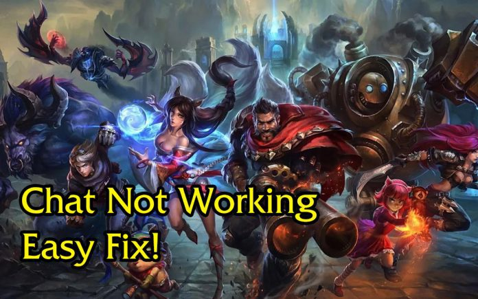 league of legends chat not working