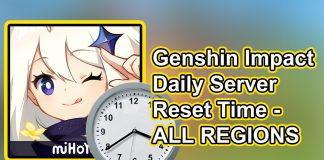 Genshin Impact Server Time Daily Reset