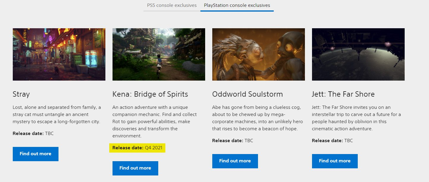 Kena: Bridge of Spirits Delayed To Q4 2021 According To The PlayStation Site
