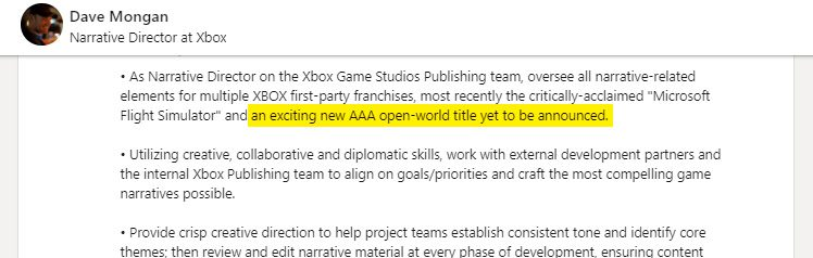 Xbox Game Studios Exciting Unannounced AAA Open-World Game