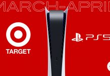 Target March April PS5