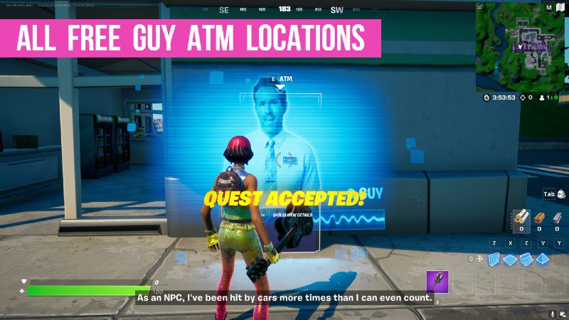 Fortnite All Free Guy Atm Locations